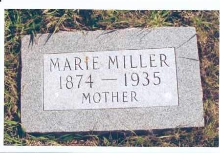 MILLER, MARIE - McIntosh County, North Dakota   MARIE MILLER - North Dakota Gravestone Photos