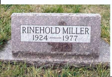 MILLER, RINEHOLD - McIntosh County, North Dakota | RINEHOLD MILLER - North Dakota Gravestone Photos