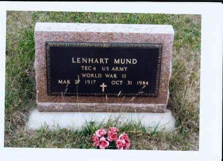 MUND, LENHART - McIntosh County, North Dakota | LENHART MUND - North Dakota Gravestone Photos