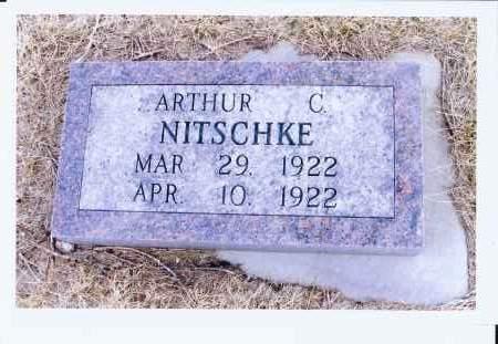 NITSCHKE, ARTHUR C. - McIntosh County, North Dakota   ARTHUR C. NITSCHKE - North Dakota Gravestone Photos