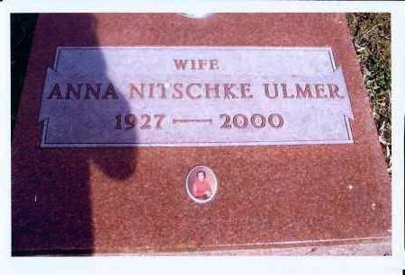 NITSCHKE, ANNA ULMER - McIntosh County, North Dakota | ANNA ULMER NITSCHKE - North Dakota Gravestone Photos