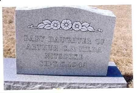 NITSCHKE, BABY DAUGHTER - McIntosh County, North Dakota | BABY DAUGHTER NITSCHKE - North Dakota Gravestone Photos