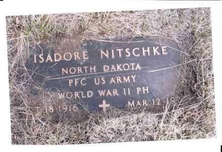 NITSCHKE, ISADORE - McIntosh County, North Dakota   ISADORE NITSCHKE - North Dakota Gravestone Photos