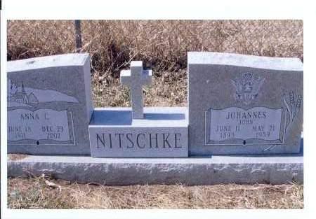 NITSCHKE, JOHANNES - McIntosh County, North Dakota | JOHANNES NITSCHKE - North Dakota Gravestone Photos