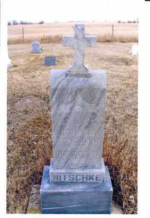 STRAUB NITSCHKE, JOHANA - McIntosh County, North Dakota | JOHANA STRAUB NITSCHKE - North Dakota Gravestone Photos