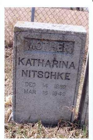 NITSCHKE, KATHARINA - McIntosh County, North Dakota | KATHARINA NITSCHKE - North Dakota Gravestone Photos