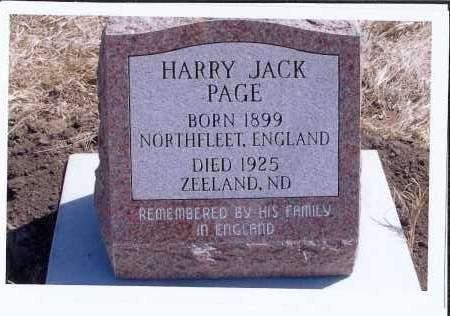 PAGE, HARRY JACK - McIntosh County, North Dakota | HARRY JACK PAGE - North Dakota Gravestone Photos