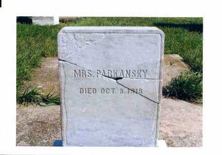 PARKANSKY, MRS. - McIntosh County, North Dakota | MRS. PARKANSKY - North Dakota Gravestone Photos