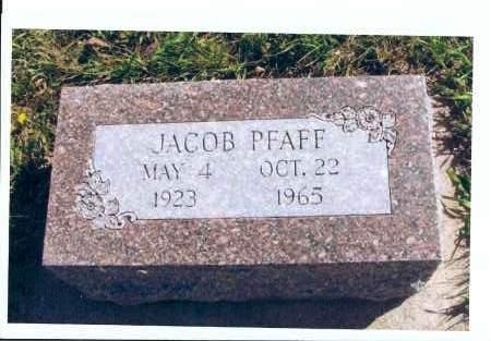 PFAFF, JACOB - McIntosh County, North Dakota | JACOB PFAFF - North Dakota Gravestone Photos