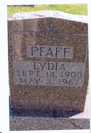 PFAFF, LYDIA - McIntosh County, North Dakota   LYDIA PFAFF - North Dakota Gravestone Photos