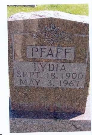 ROTT PFAFF, LYDIA - McIntosh County, North Dakota | LYDIA ROTT PFAFF - North Dakota Gravestone Photos
