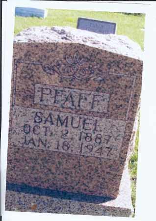 PFAFF, SAMUEL - McIntosh County, North Dakota | SAMUEL PFAFF - North Dakota Gravestone Photos
