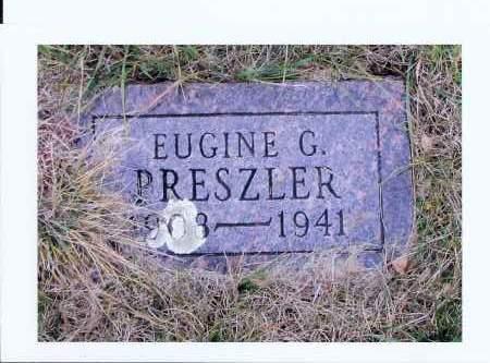 PRESZLER, EUGINE G. - McIntosh County, North Dakota   EUGINE G. PRESZLER - North Dakota Gravestone Photos
