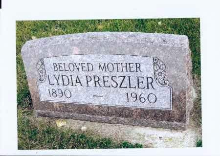 PRESZLER, LYDIA - McIntosh County, North Dakota | LYDIA PRESZLER - North Dakota Gravestone Photos