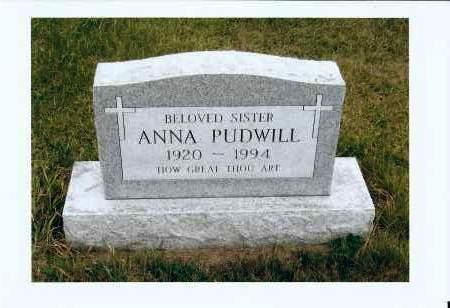 PUDWILL, ANNA - McIntosh County, North Dakota | ANNA PUDWILL - North Dakota Gravestone Photos