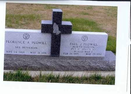 PUDWILL, FLORENCE A. - McIntosh County, North Dakota | FLORENCE A. PUDWILL - North Dakota Gravestone Photos