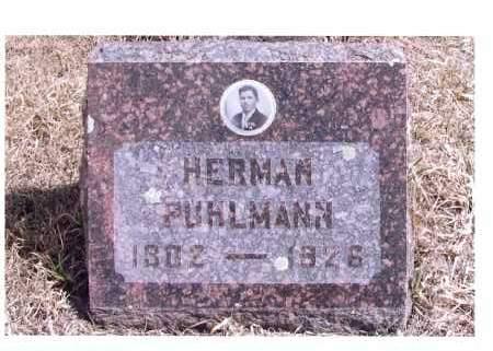 PUHLMANN, HERMAN - McIntosh County, North Dakota   HERMAN PUHLMANN - North Dakota Gravestone Photos