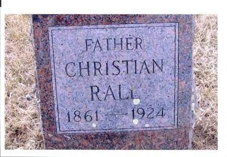 RALL, CHRISTIAN - McIntosh County, North Dakota | CHRISTIAN RALL - North Dakota Gravestone Photos