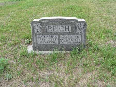 REICH 013, KATHARINA - McIntosh County, North Dakota | KATHARINA REICH 013 - North Dakota Gravestone Photos
