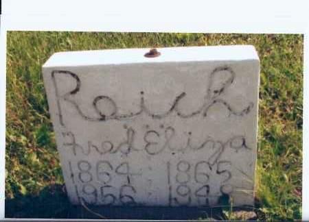 REICH, ELIZA - McIntosh County, North Dakota | ELIZA REICH - North Dakota Gravestone Photos