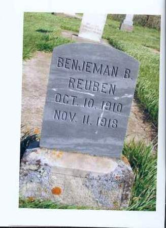 REUBEN, BENJAMAN B. - McIntosh County, North Dakota | BENJAMAN B. REUBEN - North Dakota Gravestone Photos