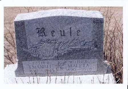 REULE, MALETA - McIntosh County, North Dakota   MALETA REULE - North Dakota Gravestone Photos