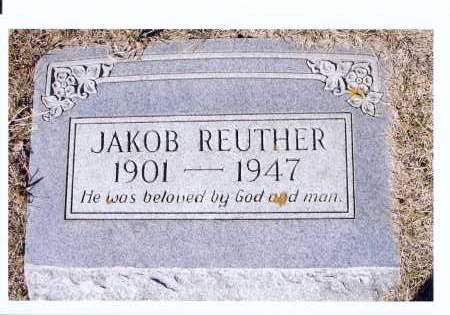 REUTHER, JAKOB - McIntosh County, North Dakota | JAKOB REUTHER - North Dakota Gravestone Photos
