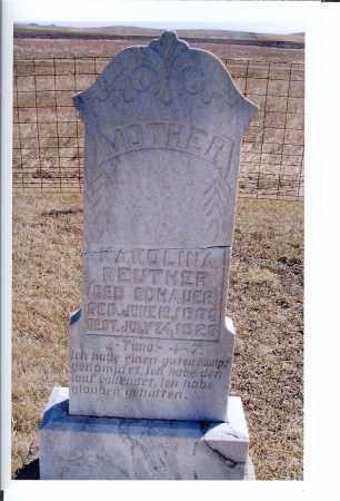 REUTHER, KAROLINA - McIntosh County, North Dakota | KAROLINA REUTHER - North Dakota Gravestone Photos