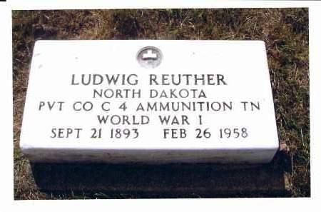 REUTHER, LUDWIG - McIntosh County, North Dakota   LUDWIG REUTHER - North Dakota Gravestone Photos