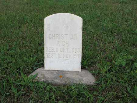 RICH 037, CHRISTIAN - McIntosh County, North Dakota | CHRISTIAN RICH 037 - North Dakota Gravestone Photos