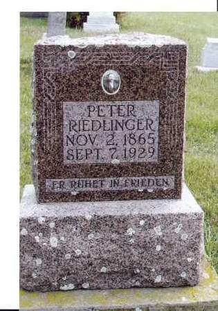 RIEDLINGER, PETER - McIntosh County, North Dakota | PETER RIEDLINGER - North Dakota Gravestone Photos