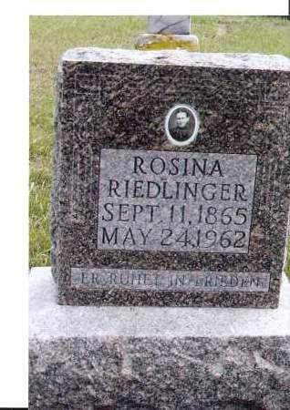 RIEDLINGER, ROSINA - McIntosh County, North Dakota   ROSINA RIEDLINGER - North Dakota Gravestone Photos
