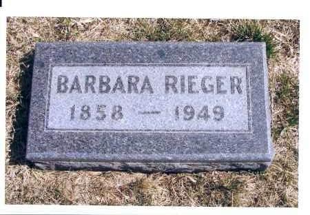 RIEGER, BARBARA - McIntosh County, North Dakota   BARBARA RIEGER - North Dakota Gravestone Photos