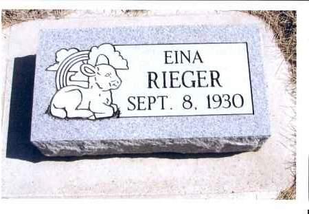 RIEGER, EINA - McIntosh County, North Dakota | EINA RIEGER - North Dakota Gravestone Photos