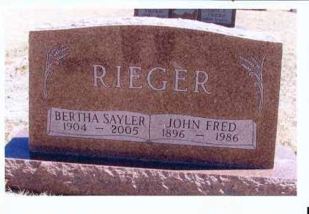 RIEGER, BERTHA - McIntosh County, North Dakota | BERTHA RIEGER - North Dakota Gravestone Photos