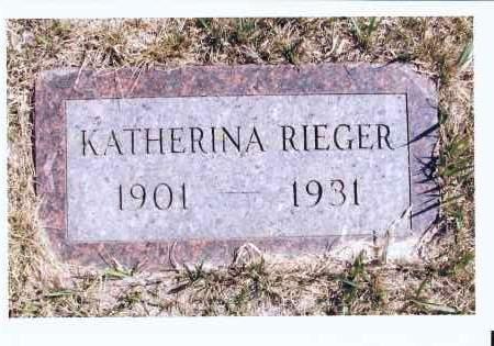 RIEGER, KATHERINA - McIntosh County, North Dakota | KATHERINA RIEGER - North Dakota Gravestone Photos