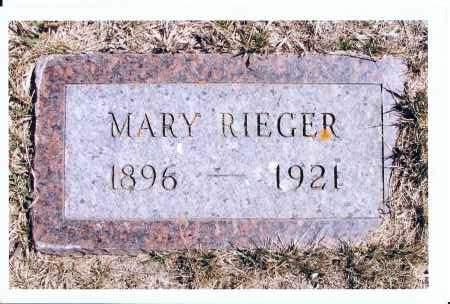 RIEGER, MARY - McIntosh County, North Dakota | MARY RIEGER - North Dakota Gravestone Photos