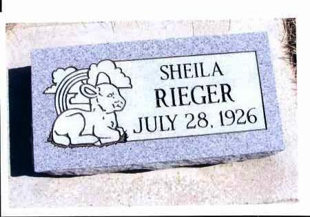 RIEGER, SHEILA - McIntosh County, North Dakota   SHEILA RIEGER - North Dakota Gravestone Photos