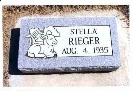 RIEGER, STELLA - McIntosh County, North Dakota   STELLA RIEGER - North Dakota Gravestone Photos