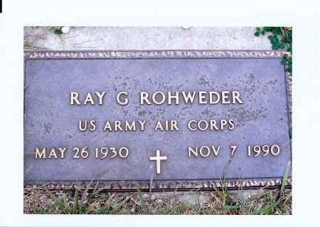ROHWEDER, RAY G. - McIntosh County, North Dakota | RAY G. ROHWEDER - North Dakota Gravestone Photos
