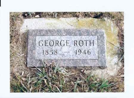 ROTH, GEORGE - McIntosh County, North Dakota   GEORGE ROTH - North Dakota Gravestone Photos