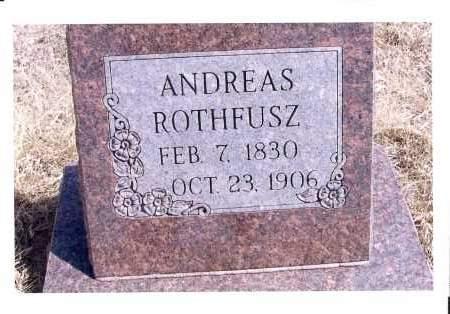 ROTHFUSZ, ANDREAS - McIntosh County, North Dakota | ANDREAS ROTHFUSZ - North Dakota Gravestone Photos