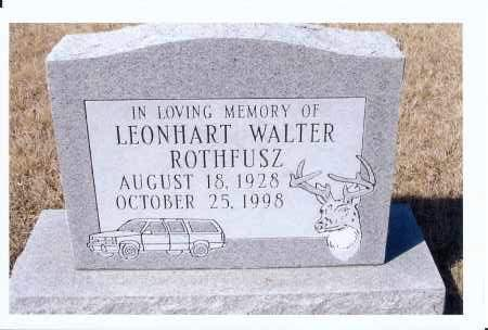 ROTHFUSZ, LEONHART, WALTER - McIntosh County, North Dakota | LEONHART, WALTER ROTHFUSZ - North Dakota Gravestone Photos