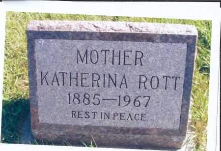 ROTT, KATHERINA - McIntosh County, North Dakota   KATHERINA ROTT - North Dakota Gravestone Photos