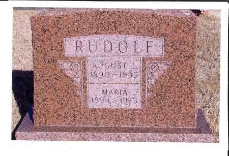 RUDOLF, AUGUST L. - McIntosh County, North Dakota | AUGUST L. RUDOLF - North Dakota Gravestone Photos