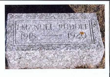 RUDOLF, EMANUEL - McIntosh County, North Dakota | EMANUEL RUDOLF - North Dakota Gravestone Photos