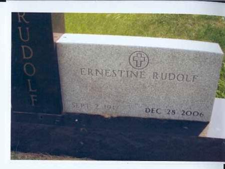 RUDOLF, ERNESTINE - McIntosh County, North Dakota | ERNESTINE RUDOLF - North Dakota Gravestone Photos