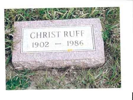 RUFF, CHRIST - McIntosh County, North Dakota | CHRIST RUFF - North Dakota Gravestone Photos