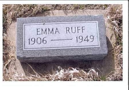 RUFF, EMMA - McIntosh County, North Dakota | EMMA RUFF - North Dakota Gravestone Photos