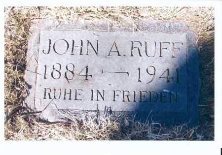 RUFF, JOHN A. - McIntosh County, North Dakota | JOHN A. RUFF - North Dakota Gravestone Photos